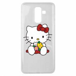Чехол для Samsung J8 2018 Kitty с букетиком