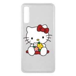 Чехол для Samsung A7 2018 Kitty с букетиком