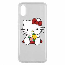 Чехол для Xiaomi Mi8 Pro Kitty с букетиком