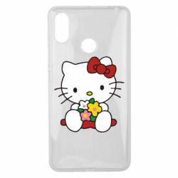 Чехол для Xiaomi Mi Max 3 Kitty с букетиком