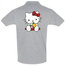 Футболка Поло Kitty с букетиком - FatLine