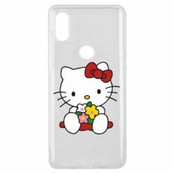 Чехол для Xiaomi Mi Mix 3 Kitty с букетиком