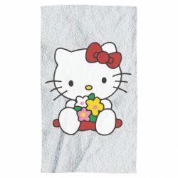 Полотенце Kitty с букетиком