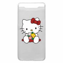 Чехол для Samsung A80 Kitty с букетиком