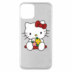 Чехол для iPhone 11 Kitty с букетиком
