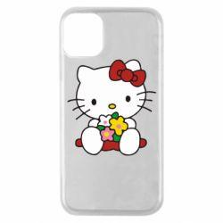 Чехол для iPhone 11 Pro Kitty с букетиком