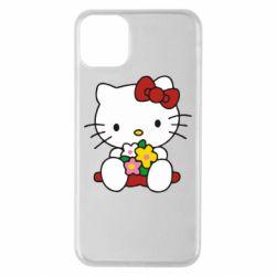 Чехол для iPhone 11 Pro Max Kitty с букетиком