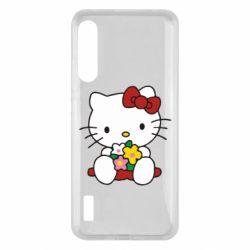 Чохол для Xiaomi Mi A3 Kitty с букетиком