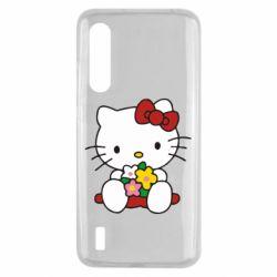 Чехол для Xiaomi Mi9 Lite Kitty с букетиком