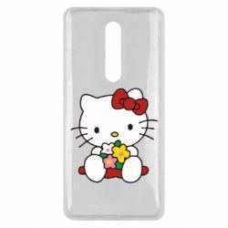 Чехол для Xiaomi Mi9T Kitty с букетиком