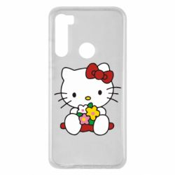 Чехол для Xiaomi Redmi Note 8 Kitty с букетиком
