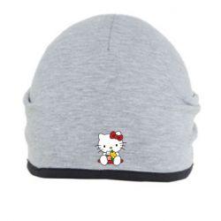 Шапка Kitty с букетиком