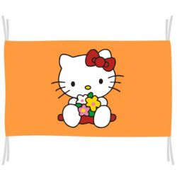 Флаг Kitty с букетиком