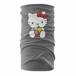 Бандана-труба Kitty с букетиком