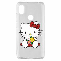 Чехол для Xiaomi Redmi S2 Kitty с букетиком