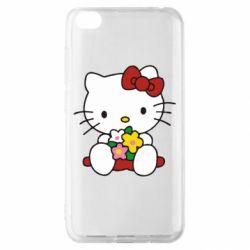 Чехол для Xiaomi Redmi Go Kitty с букетиком