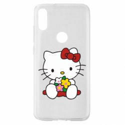 Чехол для Xiaomi Mi Play Kitty с букетиком