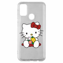 Чехол для Samsung M30s Kitty с букетиком