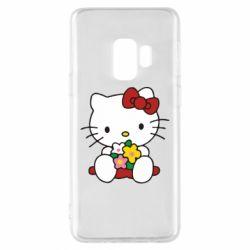 Чехол для Samsung S9 Kitty с букетиком