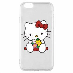 Чехол для iPhone 6/6S Kitty с букетиком
