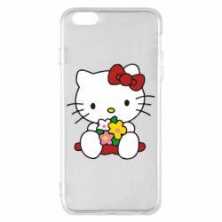 Чехол для iPhone 6 Plus/6S Plus Kitty с букетиком