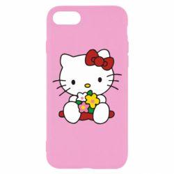 Чехол для iPhone 8 Kitty с букетиком