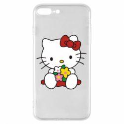 Чехол для iPhone 8 Plus Kitty с букетиком