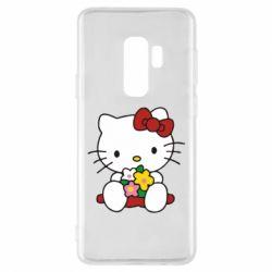 Чехол для Samsung S9+ Kitty с букетиком