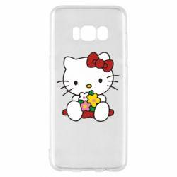 Чехол для Samsung S8 Kitty с букетиком