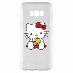 Чехол для Samsung S8+ Kitty с букетиком