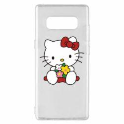 Чехол для Samsung Note 8 Kitty с букетиком