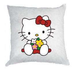 Подушка Kitty с букетиком - FatLine