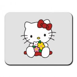 Коврик для мыши Kitty с букетиком - FatLine