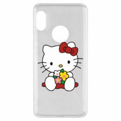 Чехол для Xiaomi Redmi Note 5 Kitty с букетиком