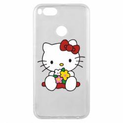 Чехол для Xiaomi Mi A1 Kitty с букетиком