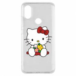 Чехол для Xiaomi Mi A2 Kitty с букетиком