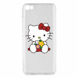 Чехол для Xiaomi Mi5/Mi5 Pro Kitty с букетиком