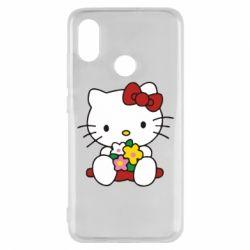 Чехол для Xiaomi Mi8 Kitty с букетиком