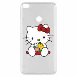 Чехол для Xiaomi Mi Max 2 Kitty с букетиком