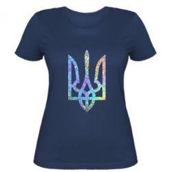 Женская футболка Класичний герб України голограмма