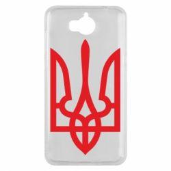 Чехол для Huawei Y5 2017 Класичний герб України - FatLine