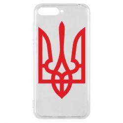 Чехол для Huawei Y6 2018 Класичний герб України - FatLine