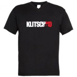 Мужская футболка  с V-образным вырезом Klitschko - FatLine