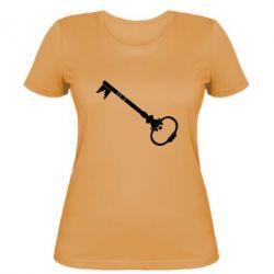 Женская футболка Ключ к сердцу - FatLine