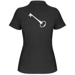 Женская футболка поло Ключ к сердцу