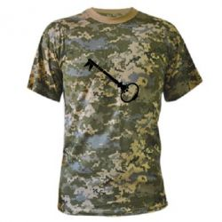 Камуфляжная футболка Ключ к сердцу - FatLine