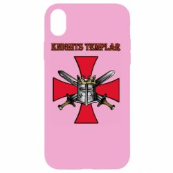Чохол для iPhone XR Knights templar helmet and swords
