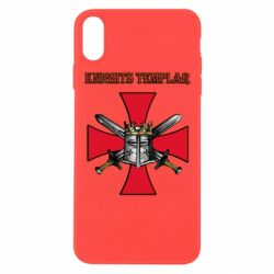 Чохол для iPhone Xs Max Knights templar helmet and swords