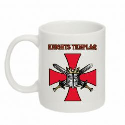 Кружка 320ml Knights templar helmet and swords