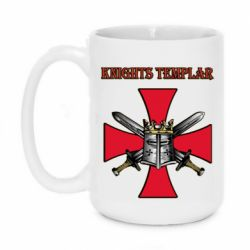 Кружка 420ml Knights templar helmet and swords